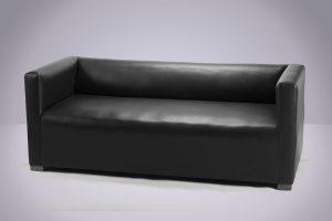 Sillón Cubo 3 cpos. Negro 180 × 77 × 68cm.