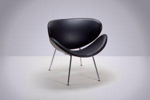 Sillón Paulín Negro 80 × 76 × 76cm.