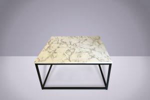 Mesa ratona símil Carrara 85 x 85 x 40cm